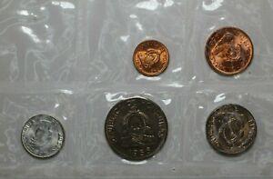 1956-1958 Honduras 5 Coin Set UNC - 172852A