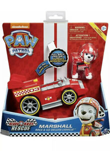 "PAW PATROL  Ready Race Rescue  "" MARSHALL"" Deluxe Go Pull Back Motor Vehicle"