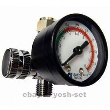 ANEST IWATA Hand Pressure Gauge AJR-02S-VG Air Regulator for Spray Guns Japan