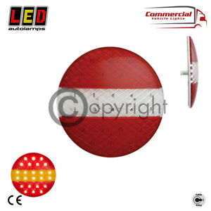 LED AUTOLAMPS 12/24V ROUND LED SLIM SLIMLINE HAMBURGER REAR TAIL LIGHT EU140STIM