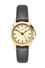Sekonda 2691 Ladies Watch Black Leather Strap Gold Plated RRP £39.99
