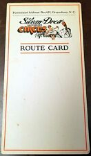 Silvan Drew Motorized Circus 1920s Official Route Card