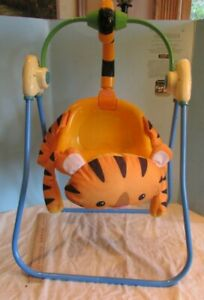 Fisher Price Little Mommy Baby Doll Rain Forest TIGER SWING PLASTIC