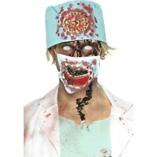 Zombie Surgeon Kit – Latex cervelli denti Jaw Sangue Halloween Maschera Smiffys