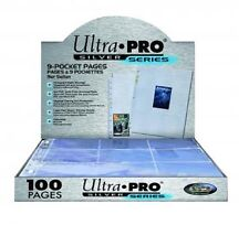 1 Box of 100 Ultra Pro Silver 9 Pocket Pages MTG Pokemon or Trading Card Storage
