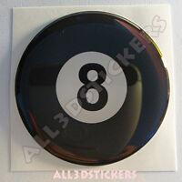 Pegatina Bola Billar Numero 8 Negra Suerte Adhesivo Relieve Coche Moto 3D
