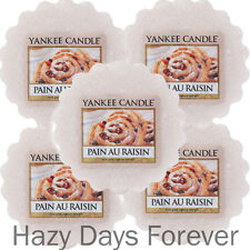 5 YANKEE CANDLE WAX TARTS MELTS Pain Au Raisin BUY 2 SAVE 20% vanilla & cinnamon