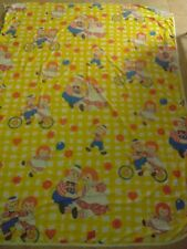 """Vintage Raggedy Ann and Andy Novelty Print Cotton Fabric - 78"""" x 96"""""""
