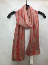 Eileen Fisher Sinuous SHIBORI Silk Crinkle Scarf Strawberry