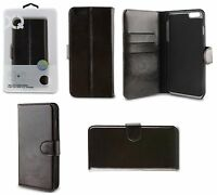 Genuine Xqisit Eman Leather Flip Wallet Case For iPhone 6 Plus & 6s Plus Brown