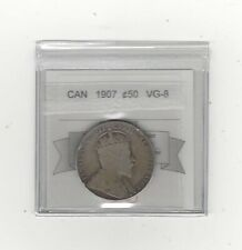 1907  Coin Mart Graded Canadian 50 Cent, **VG-8**