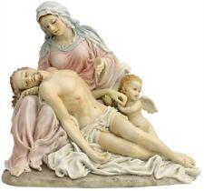 "9.25"" La Pieta with Cherub Pity Mary Statue Figurine Figure Jesus Christ Angel"