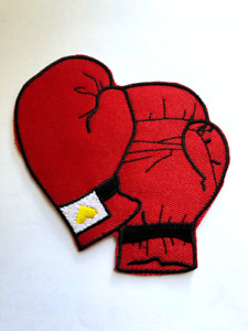 Boxing  GLOVES Iron On Patch Boxer Sports#78