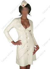 105 Latex Rubber Gummi Clinic nurse one piece shirt Dress Skirt customized 0.4mm