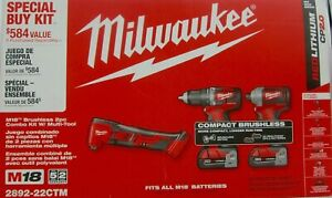 Milwaukee 2892-22CTM M18 Compact Drill/Impact/Oscillating Multi-Tool Combo Kit