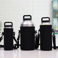 Portable Water Bottle Carrier Insulated Cup Cover Bag Holder Pouch &Strap Newly