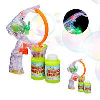 2 x Seifenblasenpistole LED Seifenblasen Kinder Seifenblasenmaschine XL Bubbles