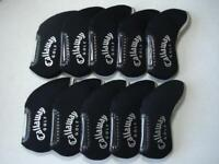 10PCS Golf Iron Headcovers Windows for Callaway Club Head Covers Caps Black RH