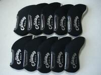 10PCS Golf Iron Headcovers Windows for Callaway Club Head Covers Caps Black
