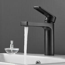 Bathroom Basin Mixer Tap / Modern Black Mono Bloc Single Lever Cloackroom Faucet
