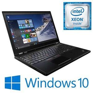 """Lenovo ThinkPad P50 Xeon E3-1505Mv5 16G 256G 500G Modem M2000M 15.6"""" FHD Win 10"""