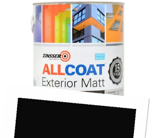 Zinsser Allcoat Exterior 15 Year Protection WB Tintable RAL9005 Black Matt 2.5L