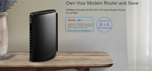 TP-Link TC-W7960 DOCSIS3.0 300Mbps Wireless WiFi Cable Modem+Router