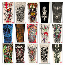 6PCS Unisex Mix Nylon Stretchy Temporary Tattoo Sleeves Fashion Arm Stockings