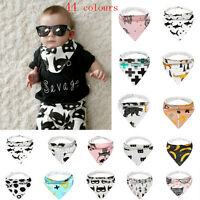 Kid Baby Feeding Head Scarf Towel Bib Boy Girl Bandana Saliva Triangle Dribble