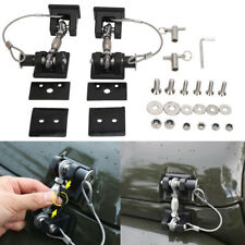 Black Hood Lock Latch Anti-Thief Catch Pin Kit with Key For Jeep Wrangler JK ya