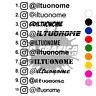 NOME instagram ADESIVO PERSONALIZZATO stickers auto moto tuning
