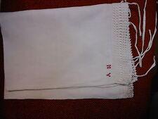 Federa lino pizzo A.N.. 72x48 Linen pillowcase  taie d'oreiller lin B15