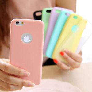 COVER per Iphone 6 6s 7 8 CUSTODIA in TPU SILICONE OPACA ULTRA SLIM