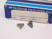 NEW SURPLUS 10PCS. TELEDYNE  TPG 221  GRADE: HTA  CARBIDE INSERTS