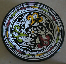 """A FINE VINTAGE MIDDLE EASTERN SIGNED LOVELY HAND PAINTED CERAMIC PLATE 10.4"""""""