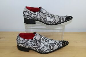 ROSSELLINI POINTY SNAKESKIN WESTERN COUNTRY SMART POINTED BOOTS  - SIZE 12