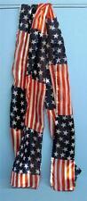 3  Women's USA Flag Scarves  13'' x 60'' Patriotic USA Flag Design