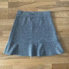 Ann Taylor Loft Tweed Peplum Skirt, Sz S Small, Black & White High Waisted Flare