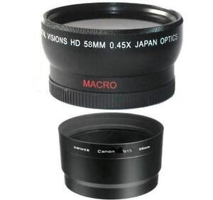 58mm Digital Vision Wide Angle Lens for Canon PowerShot G15 G16 Digital Camera