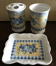 Springmaid Cottage Floral 3 Piece Bathroom Accessory Set