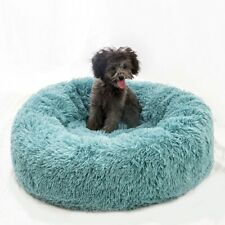 Dog Long Plush Dounts Bed Calming Bed Hondenmand Pet Kennel Super Soft Fluffy