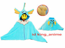 Pokemon Vaporeon Soft Plush Cloak Cape Party Cosplay Costume Dress