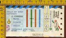 Biglietto Calcio Campionato 1993  Inter Ancona