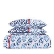 Sky Bedding Indigo Patchwork Cotton KING Duvet Cover Set Indigo BLUE $315 E3347