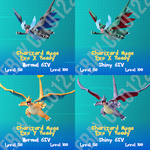 CHARIZARD NORMAL / ⚡SHINY⚡ X Y PERFECT 6IV - POKEMON LETS GO PIKACHU AND EEVEE