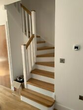 13 stairs oak cladding - system2 - oiled treads and  white mdf risers