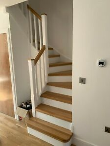 stair cladding - system2 - oiled oak treads and  white mdf risers