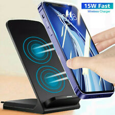 15W Fast Qi Wireless Charger Dock Stand Station For iPhone 11 12 Mini Pro Max XS