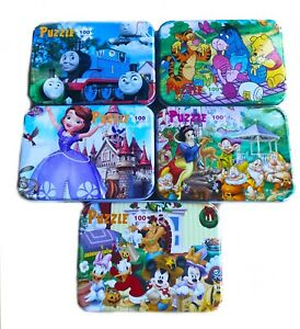 NEW 100 PCS KIDS JIGSAW PUZZLE BOYS GIRLS DISNEY FROZEN THOMAS GAME EDUCATIONAL