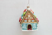 December Diamonds Ginger Bread House Glass Christmas Ornament
